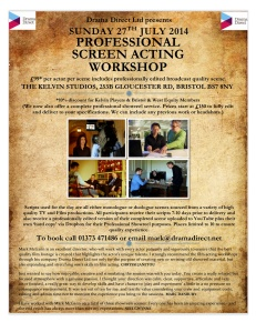 POSTER KELVIN PLAYERS SCREEN WS SUN 27th JULY 2014