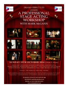 POSTER FOR STAGE MC FROME 19th OCT 2014