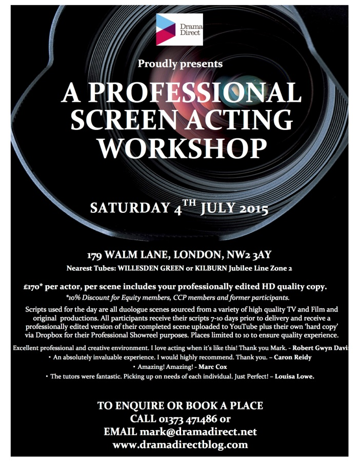 POSTER FOR LONDON SCREEN WS SAT JULY 4th 2015