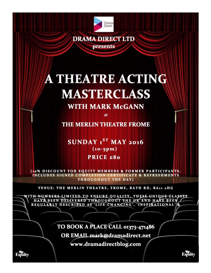POSTER FOR STAGE ACTING MC FROME 1st MAY 2016