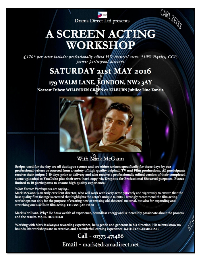 POSTER SCREEN LONDON SAT 21st MAY 2016