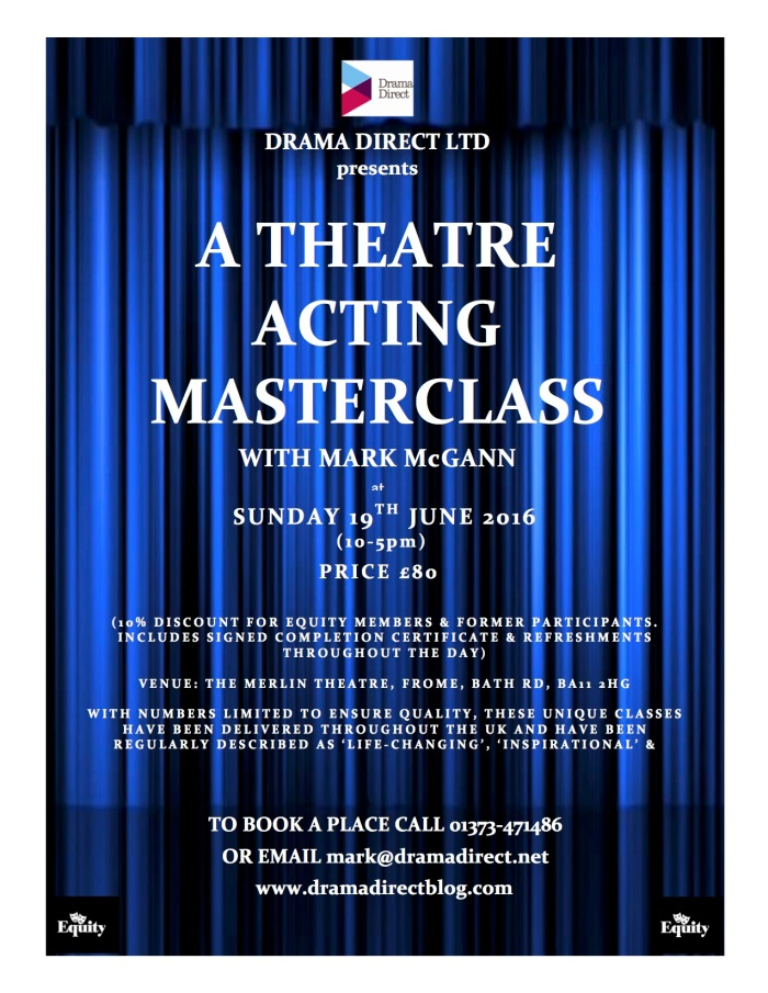 POSTER FOR STAGE ACTING MC FROME 19th JUNE 2016