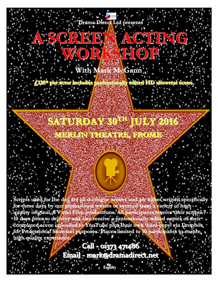 POSTER MERLIN SAT 30th JULY 2016