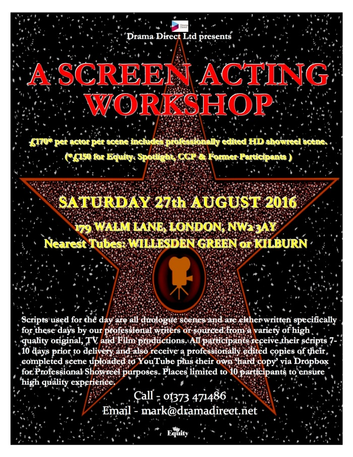 POSTER LONDON SCREEN WS SAT 27th AUGUST 2016