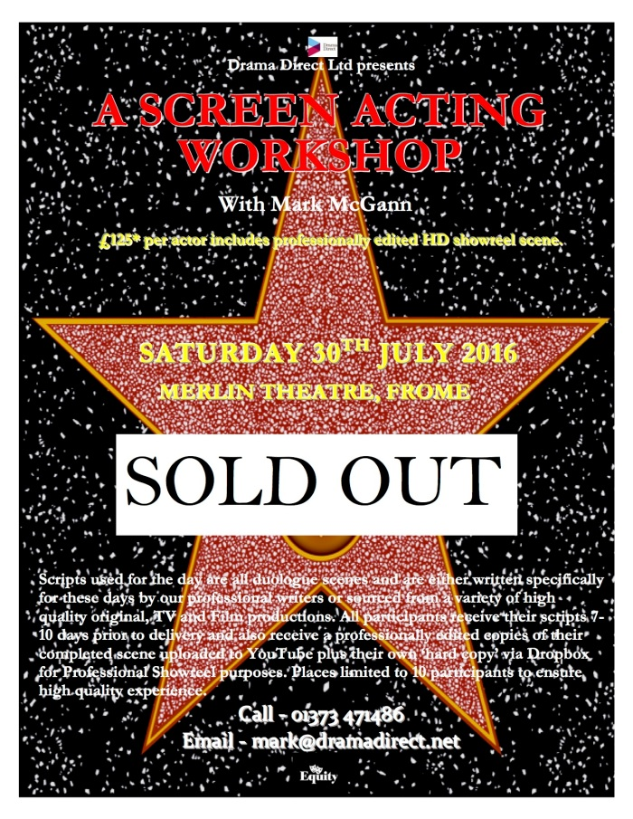POSTER MERLIN SAT 30th SOLD OUT JULY 2016