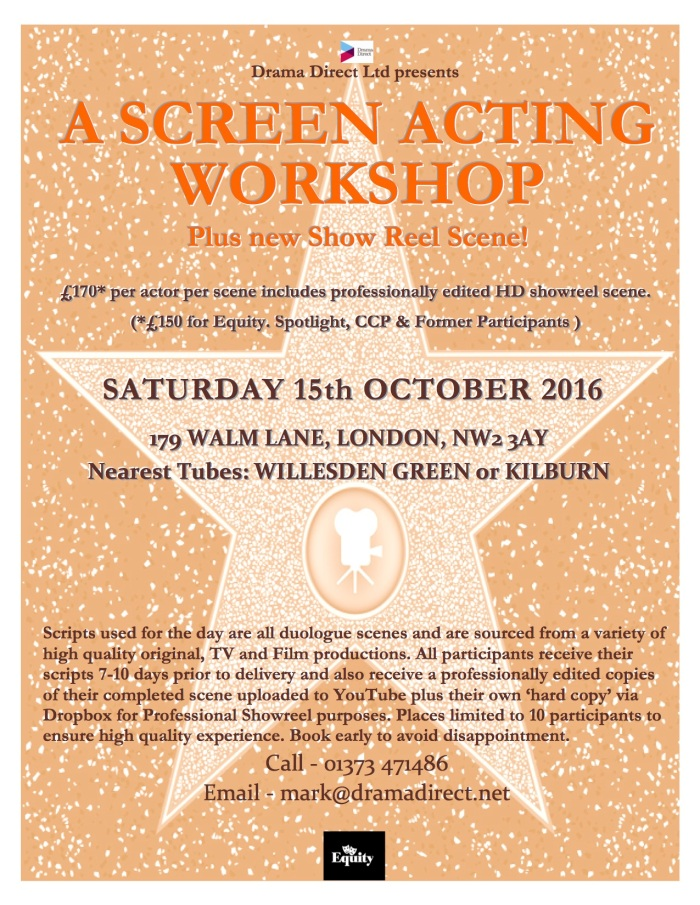 POSTER LONDON SCREEN WS SAT 15th OCTOBER 2016