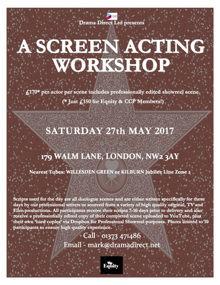 POSTER LONDON SCREEN WS SAT 27th MAY 2017