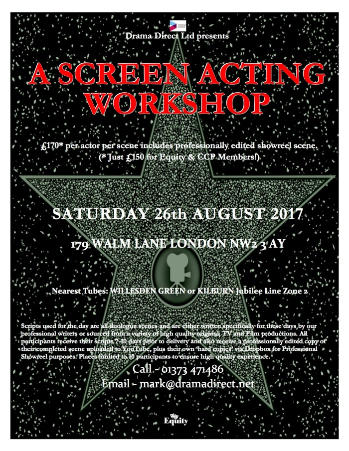 POSTER LONDON SCREEN WS SAT 26th AUGUST 2017
