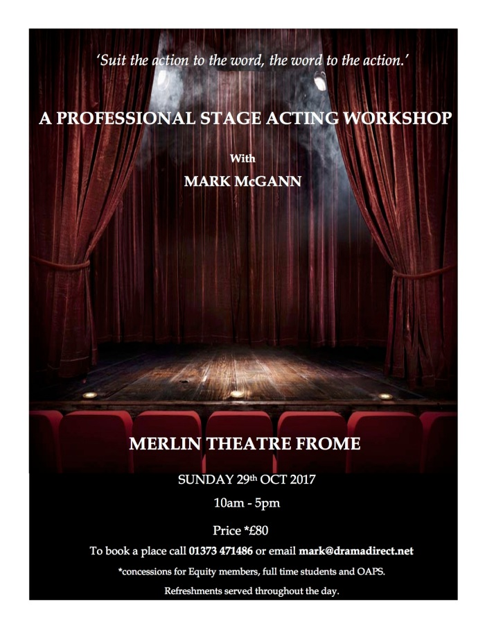 POSTER FOR STAGE ACTING MC FROME 29th OCT 2017