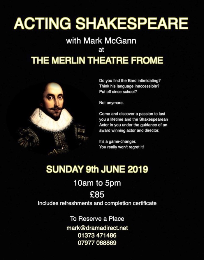 SHAKESPEARE POSTER SUN 9th JUNE 2019 1